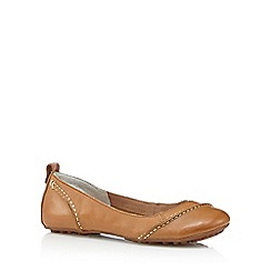 Hush Puppies - Tan leather slip on shoes