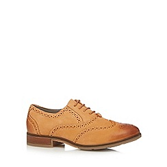 Hush Puppies - Light tan leather lace up brogues