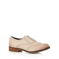 Hush Puppies - Light pink leather lace up brogues
