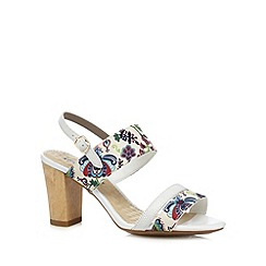 Hush Puppies - Cream floral print high sandals