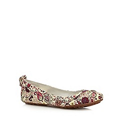 Hush Puppies - Off white paisley slip on shoes