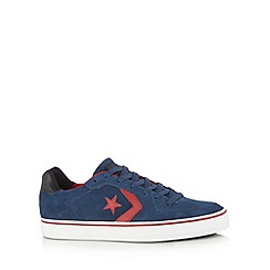 Converse - Navy suede star trainers