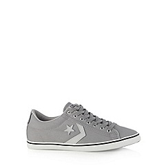 Converse - Grey 'Star Player' canvas trainers