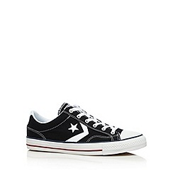 Converse - Black 'Star Player' canvas trainers
