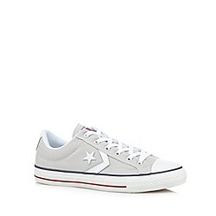 Converse - Natural canvas laced trainers