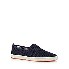 Fish 'N' Chips - Navy mesh slip ons