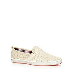 Fish 'N' Chips - Natural mesh slip ons