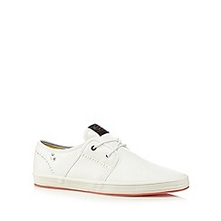 Fish 'N' Chips - White lace up slip ons