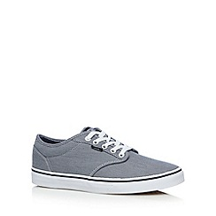 Vans - Light blue 'Atwood' check canvas shoes