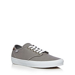 Vans - Light grey  'Atwood' check canvas shoes
