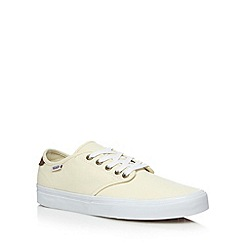 Vans - Cream 'Atwood' check canvas shoes