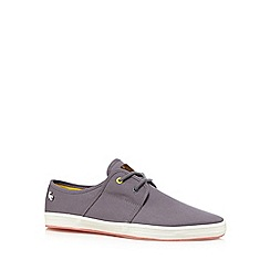 Fish 'N' Chips - Grey canvas slip ons