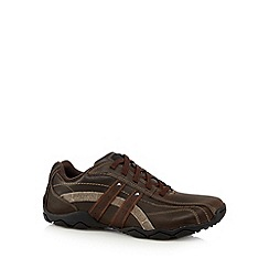 Skechers - Big and tall brown 'diameter blake' lace up trainers