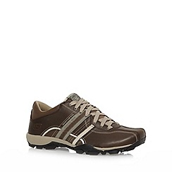 Skechers - Brown 'Urbantread Refresh' lace up trainers