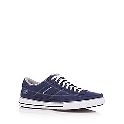 Skechers - Navy 'Arcade Chat' lace up trainers