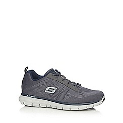 Skechers - Big and tall navy 'synergy power switch' trainers