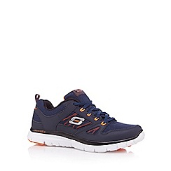 Skechers - Navy 'Flex Advantage' lace up trainers