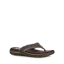 Skechers - Brown 'Supreme Bosnia' thong flip flops