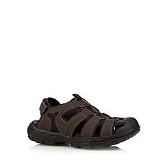 Skechers - Dark brown 'Gander Liveoak' closed sandals