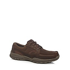 Skechers - Big and tall brown 'vorlez' lace up shoes