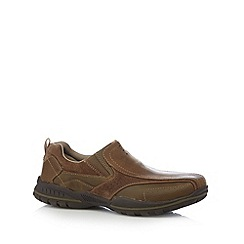 Skechers - Brown 'Vorlez-Conven' leather slip ons