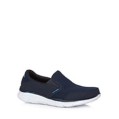 Skechers - Big and tall navy 'equalizer persistent' slip on shoes