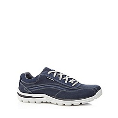 Skechers - Navy 'Superior-Monavo' casual leather trainers