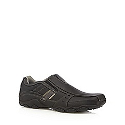 Skechers - Big and tall black 'diameter garzo' trainers