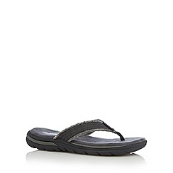 Skechers - Black 'Supreme Bosnia' thong flip flops