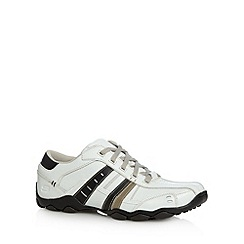 Skechers - White 'Diameter Vassell' lace up trainers