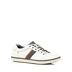 Skechers - Big and tall off white 'sorino duarte' lace up trainers