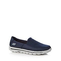 Skechers - Navy 'Go Walk 2' shoes