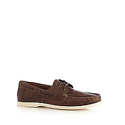 Red Herring - Brown leather lace up shoes