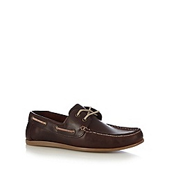 Red Herring - Wine leather boat shoes
