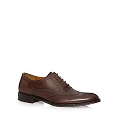 J by Jasper Conran - Designer chocolate leather oxford brogues