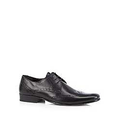 Red Herring - Black leather lace up brogues