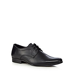 Red Herring - Black leather punched shoes