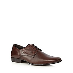 Red Herring - Brown leather perforated shoes
