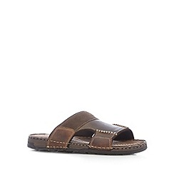 Mantaray - Chocolate comfort mule sandal