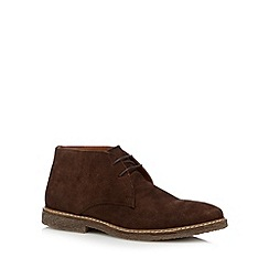 RJR.John Rocha - Designer chocolate suede chukka boots