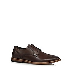 RJR.John Rocha - Designer chocolate leather punched toe shoes