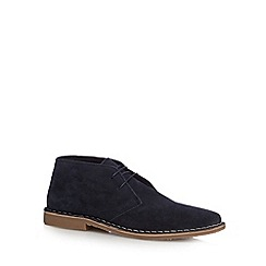 Red Herring - Navy suede desert boots