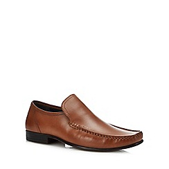 The Collection - Brown leather slip on shoes