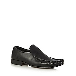The Collection - Black leather moccasin slip on shoes