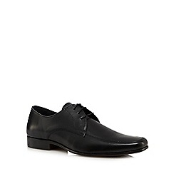 The Collection - Black leather apron toe shoes