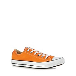 Converse - Orange lace up canvas trainers