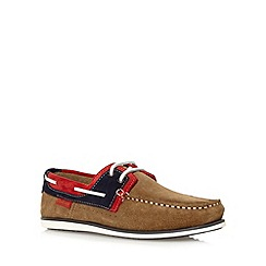 Chatham Marine - Taupe suede lace up boat shoes