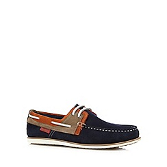 Chatham Marine - Navy suede lace up boat shoes