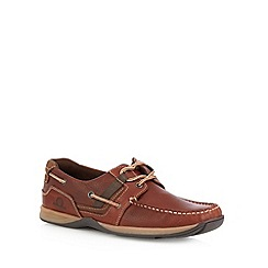 Chatham Marine - Brown leather lace up boat shoes