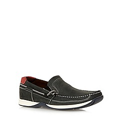 Chatham Marine - Navy leather slip on boat shoes